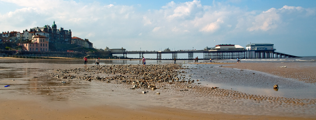 Cromer pier and town, viewed from the east.