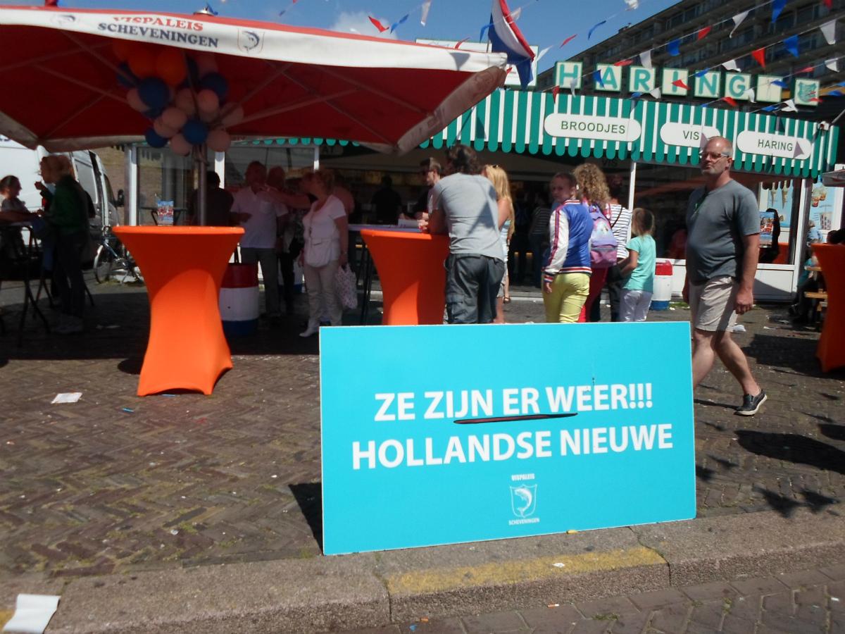 Vlaggetjesdag at Scheveningen - the ceremonial opening of the herring season.